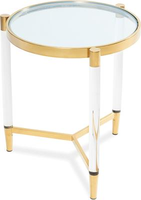 Ralph Side Table Polished Brass or Chrome