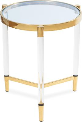 Ralph Side Table Polished Brass or Chrome image 2