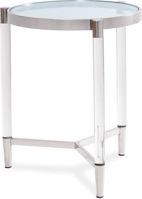 Ralph Side Table Polished Brass or Chrome image 4