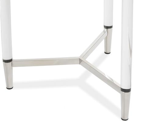 Ralph Side Table Polished Brass or Chrome image 6