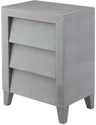 Colby 3 Drawer Shagreen Side Table Soft Grey