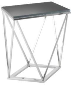 Gallane Geometric Side Table Nickel Frame Dark Glass Top image 2