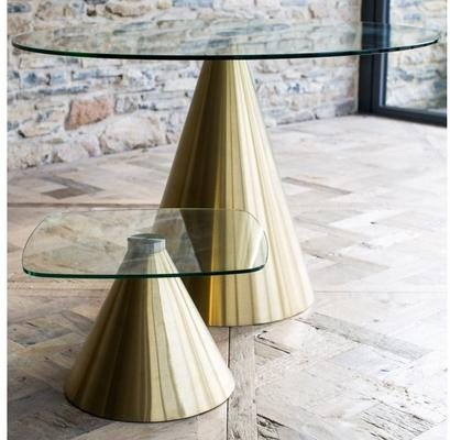 Oscar Circular Side Table with Cone Base image 10