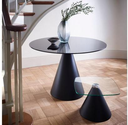 Oscar Square Top Side Table with Cone Base image 9