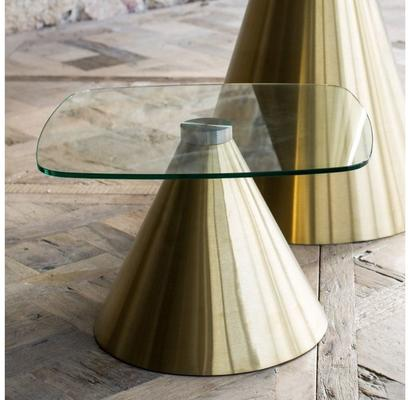 Oscar Square Top Side Table with Cone Base image 12