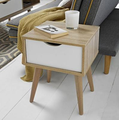 Scuna lamp table with drawer