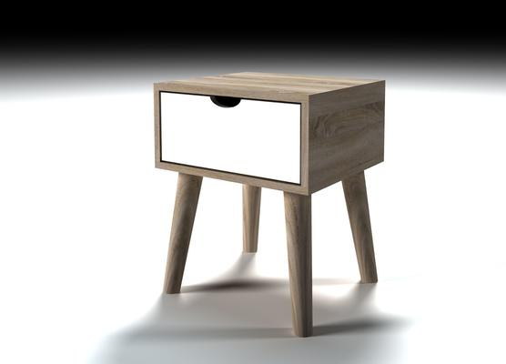 Scuna lamp table with drawer image 3