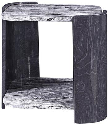 Sorrento Lamp Table Dark Grey Slate High Gloss - JF908