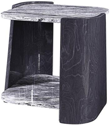 Sorrento Lamp Table Dark Grey Slate High Gloss - JF908 image 2