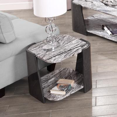 Sorrento Lamp Table Dark Grey Slate High Gloss - JF908 image 5
