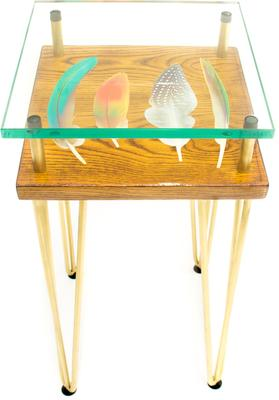 Tall Slim Bird Feather Side Table