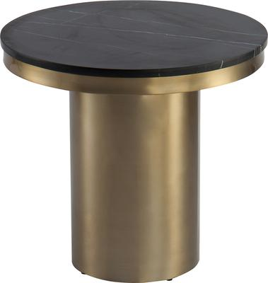 Camden Round Side Table Brass Frame Marble Top image 2