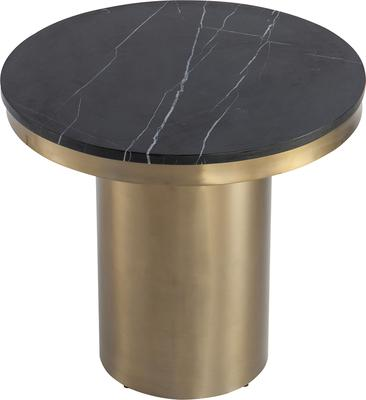Camden Round Side Table Brass Frame Marble Top image 3