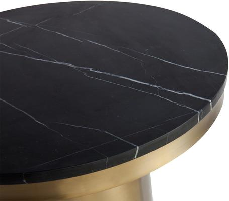 Camden Round Side Table Brass Frame Marble Top image 6