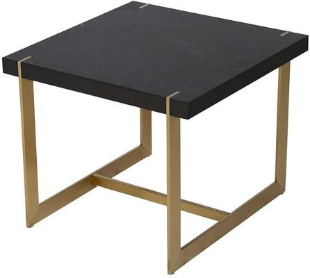 Morcott Black and Brass End Side Table image 2