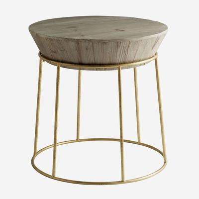 Balzac Parisian Side Table Fir Wood and Gilt Frame image 2