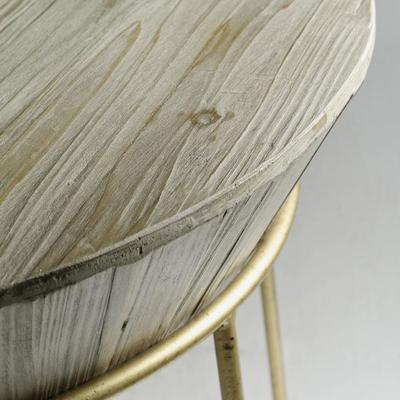 Balzac Parisian Side Table Fir Wood and Gilt Frame image 3