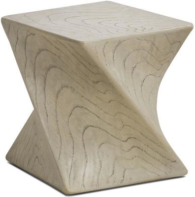 Marco Twisted Side Table Taupe by Kelly Hoppen