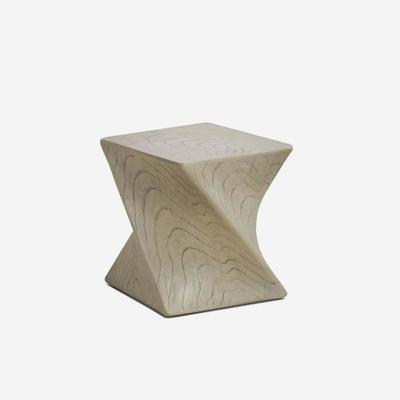 Marco Twisted Side Table Taupe by Kelly Hoppen image 2