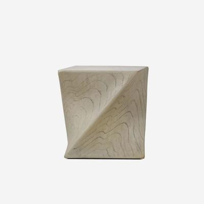 Marco Twisted Side Table Taupe by Kelly Hoppen image 3