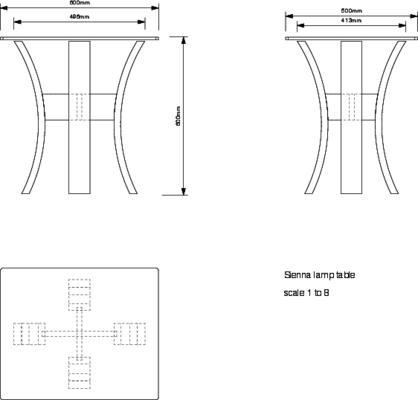 Tom Schneider Sienna Lamp Table image 5