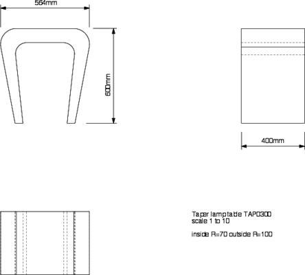 Tom Schneider Taper Lamp Table image 5