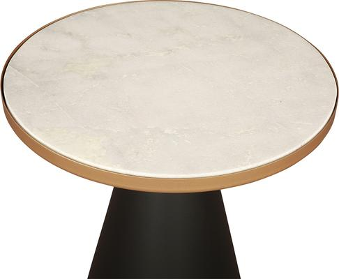 Tamon Black Iron and Gold Marble Side Table image 3