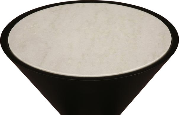 Sia Conical Side Table Black and White Marble image 3