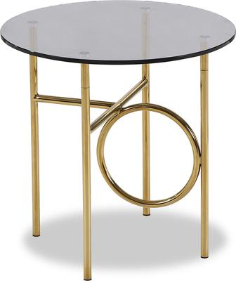 Memoire Side Table Smoked Glass and Brass Small or Large