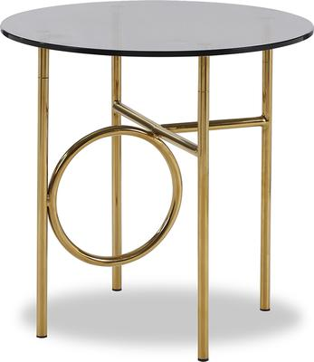 Memoire Side Table Smoked Glass and Brass Small or Large image 2