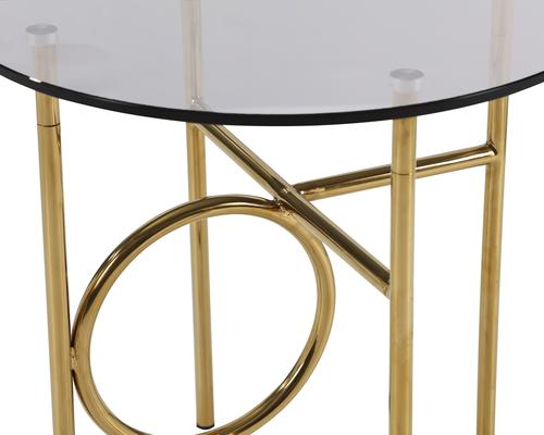 Memoire Side Table Smoked Glass and Brass Small or Large image 4