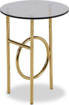 Memoire Side Table Smoked Glass and Brass Small or Large image 5