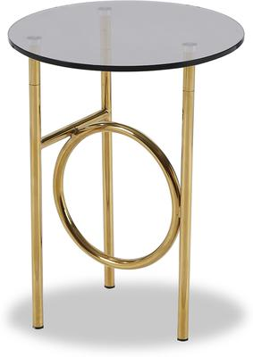 Memoire Side Table Smoked Glass and Brass Small or Large image 6