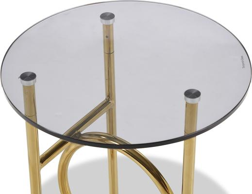 Memoire Side Table Smoked Glass and Brass Small or Large image 7
