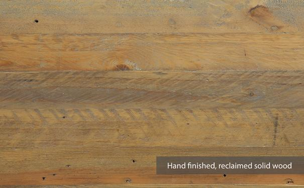 Urban Elegance Side Table Reclaimed Wood and Aluminium image 2