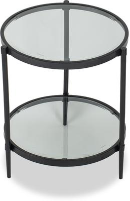 Adlon Round Glass Side Table in Dark Brown or Brass image 3