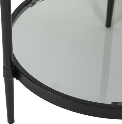 Adlon Round Glass Side Table in Dark Brown or Brass image 4