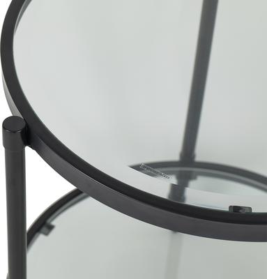 Adlon Round Glass Side Table in Dark Brown or Brass image 6