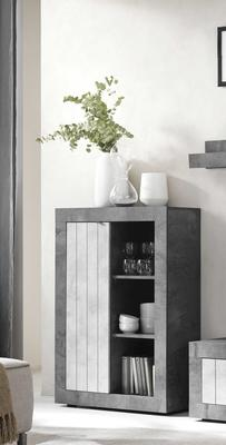 Como  Small Bookcase  and Storage Unit - Anthracite and Grey Finish image 2