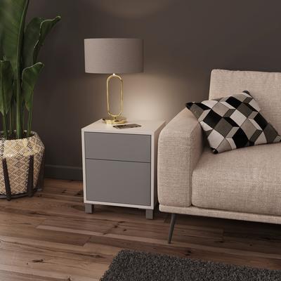 Frank Olsen LED Smart Click Side Table - White and Grey  image 3