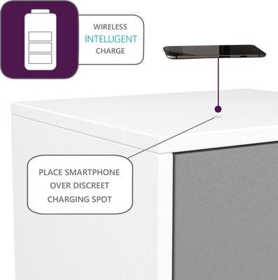 Frank Olsen LED Smart Click Side Table - White and Grey  image 4