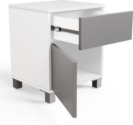 Frank Olsen LED Smart Click Side Table - White and Grey  image 9