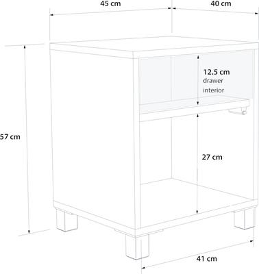 Frank Olsen LED Smart Click Side Table - White and Grey  image 10