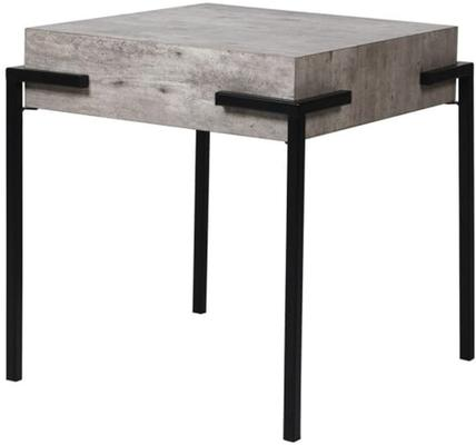 Brunswick Concrete Effect Side Table with Iron Frame
