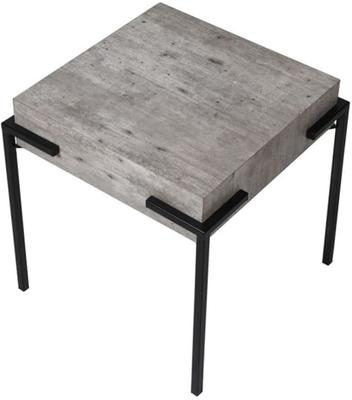 Brunswick Concrete Effect Side Table with Iron Frame image 2