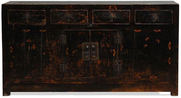 Black Painted Sideboard image 2
