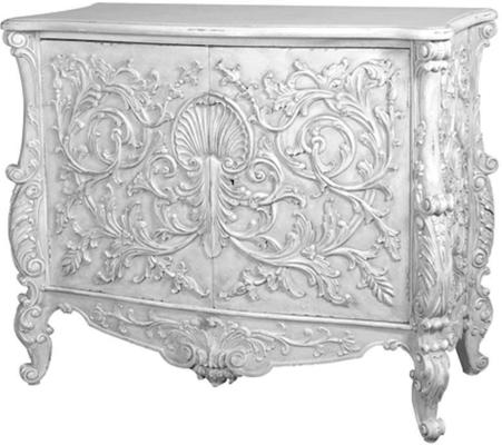 White Baroque Cupboard Carved Design image 2