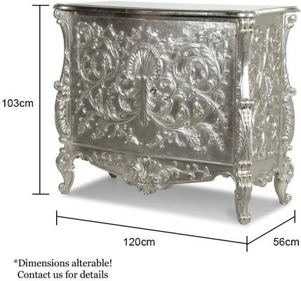 White Baroque Cupboard Carved Design image 4