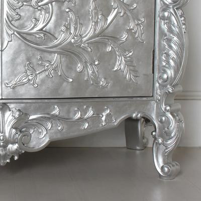 White Baroque Cupboard Carved Design image 6