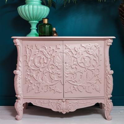 White Baroque Cupboard Carved Design image 9